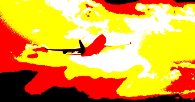 Lufthansa Boeing 747-400 Start, Abendstimmung Photo: Werner Krüger / Lufthansa 1994 D 114-12-C 209